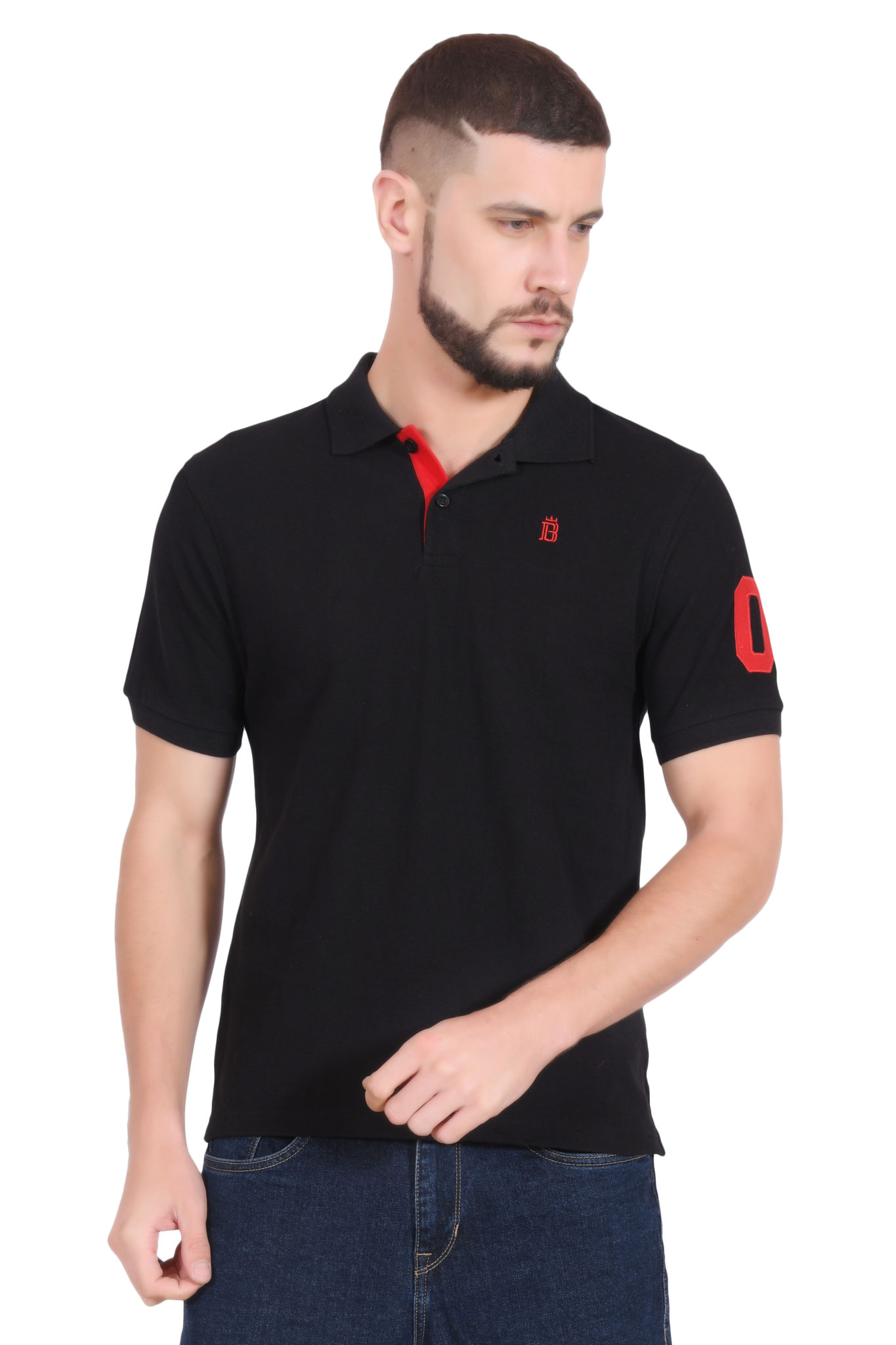 Mens Polo T-Shirt by Brave Soul 'Lincoln' Pique Long ... |Polo T Shirts For Men 2013