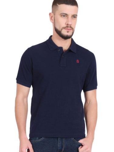 navy blue polo shirt for men